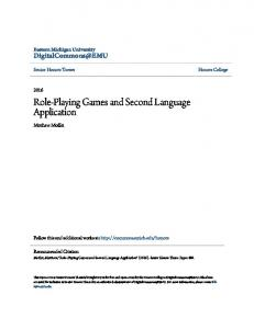 Role-Playing Games and Second Language Application