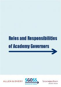 Roles and Responsibilities of Academy Governors