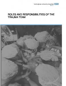 ROLES AND RESPONSIBILITIES OF THE TRAUMA TEAM