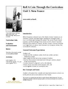 Roll A Coin Through the Curriculum Unit 1: New France