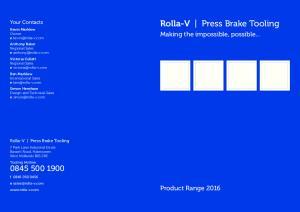 Rolla-V Press Brake Tooling