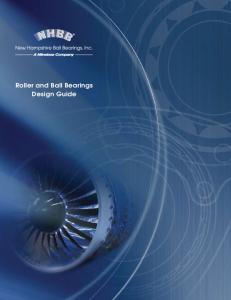 Roller and Ball Bearings Design Guide