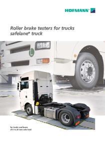 Roller brake testers for trucks safelane truck