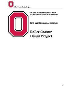 Roller Coaster Design Project
