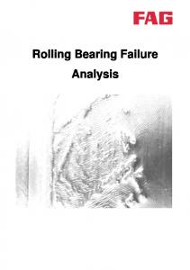 Rolling Bearing Failure Analysis
