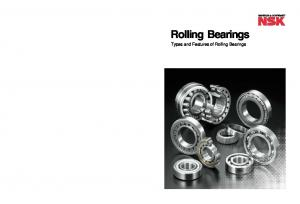Rolling Bearings Rolling B e arings