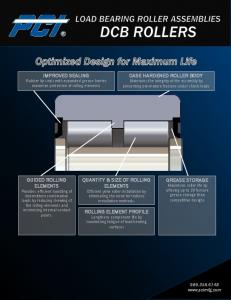 ROLLING ELEMENT PROFILE Lengthens component life by maximizing fatigue of load bearing surfaces