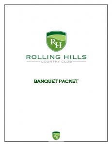 Rolling Hills Deluxe Banquet Package