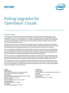 Rolling Upgrades for OpenStack * Clouds