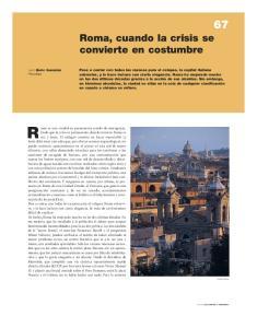 Roma es una ciudad en permanente estado de emergencia