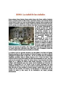 ROMA: La ciudad de las ciudades