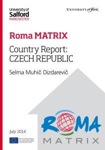 Roma MATRIX Country Report: CZECH REPUBLIC