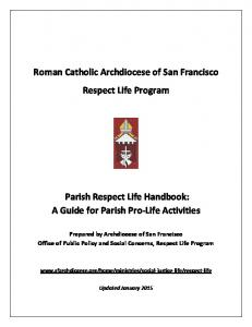 Roman Catholic Archdiocese of San Francisco Respect Life Program