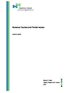 Romance Tourism and Finnish women. Johanna Jussila