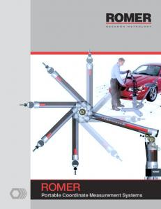 ROMER. Portable Coordinate Measurement Systems