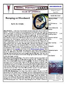 Romping on Woodward. By Dr. Eric Schiffer.  Inside this issue: Volume 21 Issue 3. Sept 2014