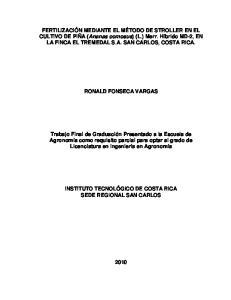 RONALD FONSECA VARGAS