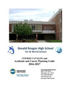 Ronald Reagan High School An IB World School