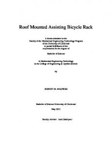 Roof Mounted Assisting Bicycle Rack
