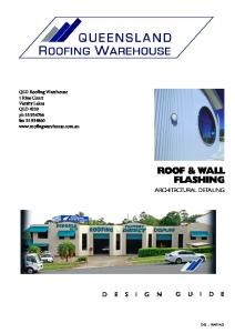 ROOF & WALL FLASHING ARCHITECTURAL DETAILING