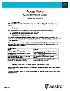 Room Move Quick Reference Guide