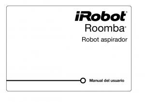 Roomba. Robot aspirador. Manual del usuario