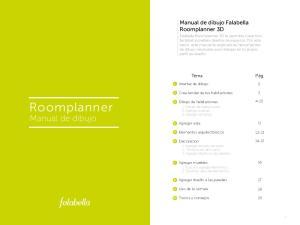 Roomplanner. Manual de dibujo. Manual de dibujo Falabella Roomplanner 3D