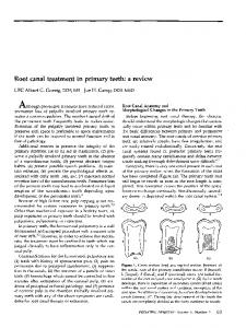 Root canal treatment in primary- teeth: a review