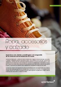 Ropa, accesorios y calzado