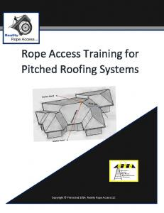 Rope Access Training for Pitched Roofing Systems