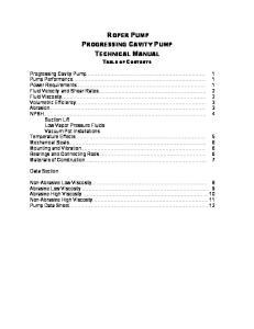 ROPER PUMP PROGRESSING CAVITY PUMP TECHNICAL MANUAL
