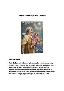 Rosario a la Virgen del Carmen