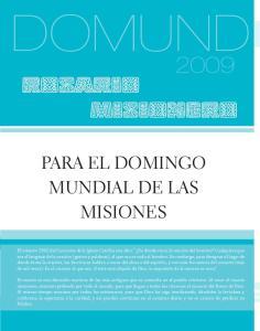 ROSARIO MISIONERO PARA EL DOMINGO MUNDIAL DE LAS MISIONES