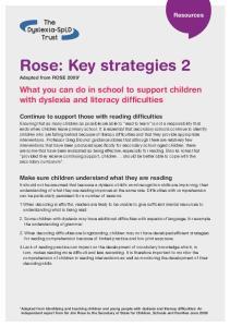 Rose: Key strategies 2