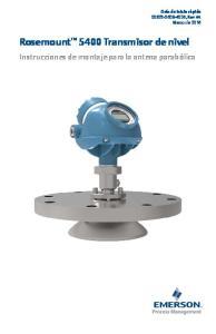 Rosemount 5400 Transmisor de nivel
