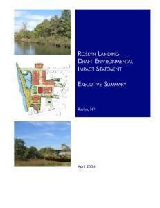 ROSLYN LANDING DRAFT ENVIRONMENTAL IMPACT STATEMENT EXECUTIVE SUMMARY