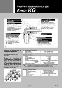 Rostfreie Steckverbindungen. Verwendbarer Schlauch. Schlauchmaterial Schlauch-Außen-ø. Technische Daten. Max. Betriebsvakuumdruck