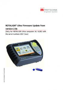 ROTALIGN Ultra Firmware Update from version 2.0x