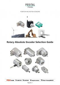 Rotary Absolute Encoder Selection Guide