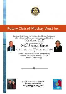 Rotary Club of Mackay West Inc