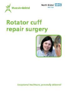 Rotator cuff repair surgery