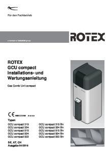 ROTEX GCU compact Installations- und Wartungsanleitung