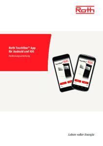 Roth Touchline + App für Android und ios