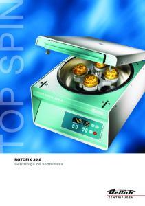 ROTOFIX 32 A Centrifuga de sobremesa