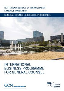 rotterdam school of management erasmus university General Counsel Executive Programme International Business Programme for General Counsel