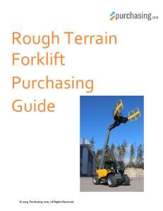 Rough Terrain Forklift Purchasing Guide