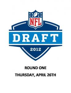 ROUND ONE THURSDAY, APRIL 26TH