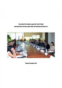 ROUNDTABLE ON THE ABOLITION OF THE DEATH PENALTY