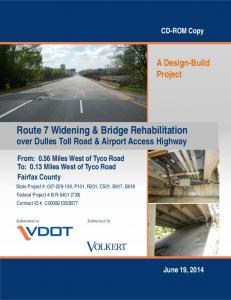 Route 7 Widening & Bridge Rehabilitation over Dulles Toll Road & Airport Access Highway