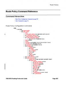 Route Policy Command Reference